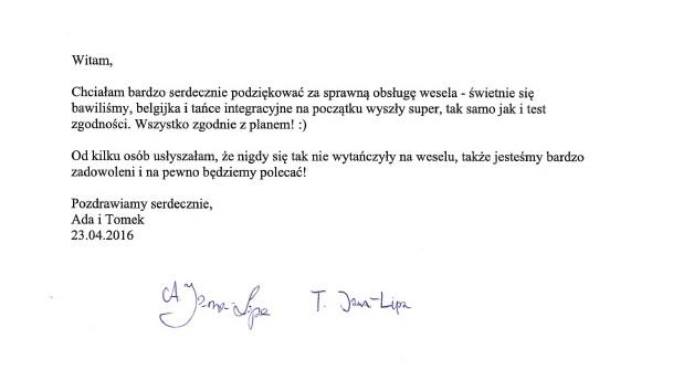 ReferencjeWeseleAda_Tomek
